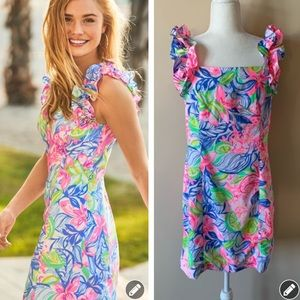 NEW Lilly Pulitzer Steffi ruffle strap dress #1879